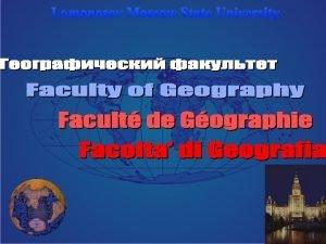 Lomonosov Moscow State University History Lhistoire Lomonosov MSU