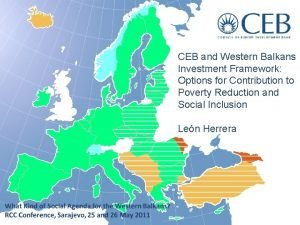 CEB and Western Balkans Investment Framework Options for