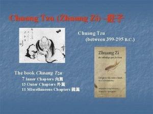 Chuang Tzu Zhuang Zi Chuang Tzu between 399