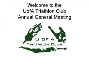 Welcome to the Uof A Triathlon Club Annual