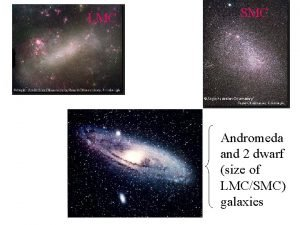 LMC SMC Andromeda and 2 dwarf size of