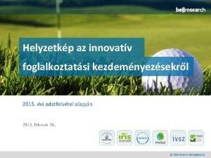Helyzetkp az innovatv foglalkoztatsi kezdemnyezsekrl 2015 vi adatfelvtel