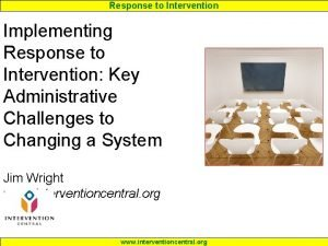 Response to Intervention Implementing Response to Intervention Key