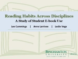 Reading Habits Across Disciplines A Study of Student