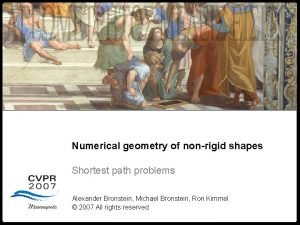 Numerical geometry of nonrigid shapes Geometry Numerical geometry