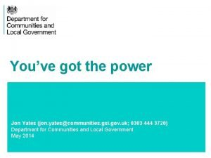 Youve got the power Jon Yates jon yatescommunities