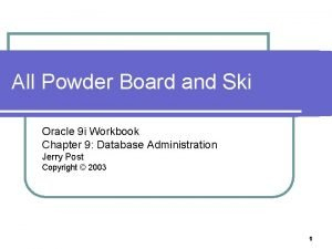 All Powder Board and Ski Oracle 9 i