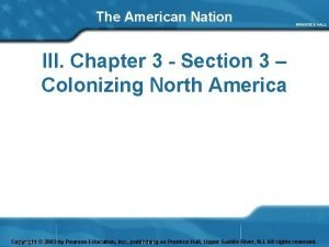 The American Nation III Chapter 3 Section 3