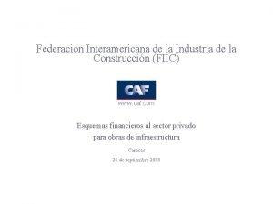 Federacin Interamericana de la Industria de la Construccin