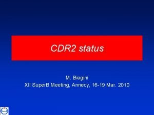 CDR 2 status M Biagini XII Super B