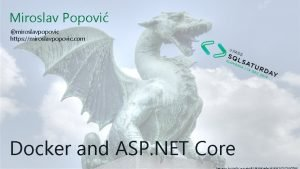 Miroslav Popovi miroslavpopovic https miroslavpopovic com Docker and