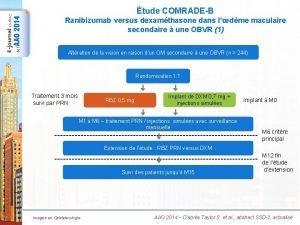 tude COMRADEB Ranibizumab versus dexamthasone dans ldme maculaire