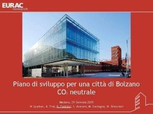Piano di sviluppo per una citt di Bolzano