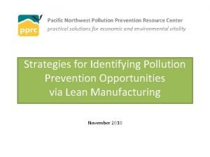 Pacific Northwest Pollution Prevention Resource Center practical solutions