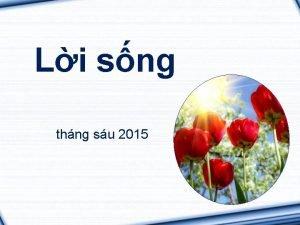 Li sng thng su 2015 Mcta Ch bn