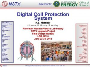 NSTX Supported by Digital Coil Protection System College