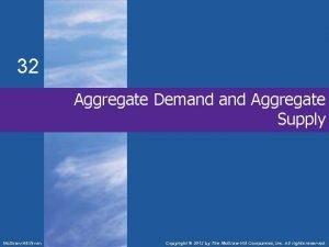 32 Aggregate Demand Aggregate Supply Mc GrawHillIrwin Copyright