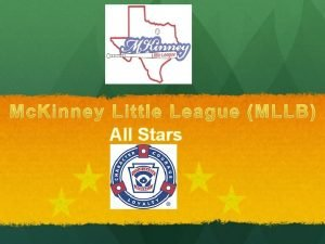 All Stars All Stars Topics Covered Coach Pitch