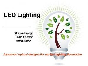 LED Lighting Saves Energy Lasts Longer Much Safer