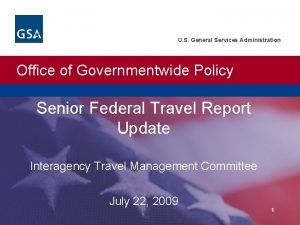 U S General Services Administration Office of Governmentwide