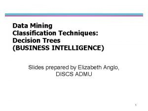 Data Mining Classification Techniques Decision Trees BUSINESS INTELLIGENCE