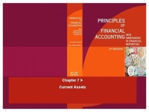 Chapter 7 Current Assets Assets Chapter 7 MuganAkman