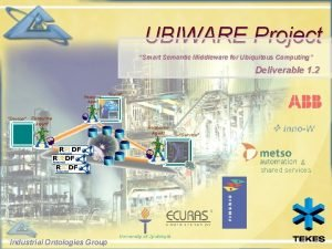 UBIWARE Project Smart Semantic Middleware for Ubiquitous Computing