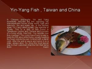 YinYang Fish Taiwan and China In Chinese philosophy