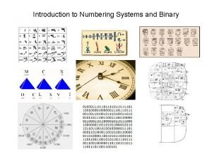 Introduction to Numbering Systems and Binary The Decimal