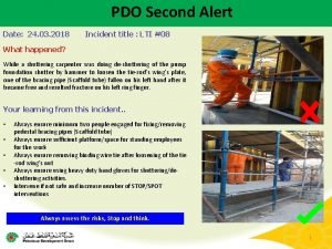 PDO Second Alert Date 24 03 2018 Incident
