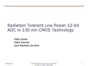 Radiation Tolerant Low Power 12 bit ADC in