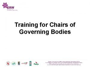 Training for Chairs of Governing Bodies Education Wales