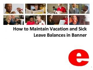 How to Maintain Vacation and Sick Leave Balances