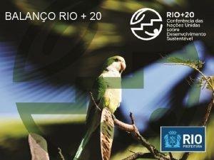 BALANO RIO 20 TURISMO PBLICO E RENDA RIO