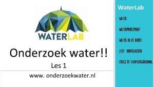 Water Lab Waterproblemen Water in de buurt Onderzoek
