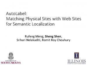 Auto Label Matching Physical Sites with Web Sites