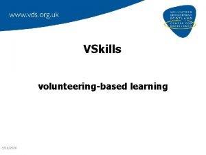 VSkills volunteeringbased learning 9102020 what is VSkills about
