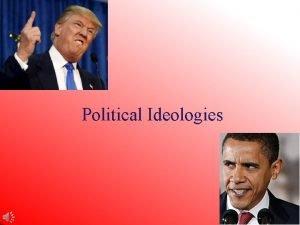 Political Ideologies Political ideologies have two dimensions 1