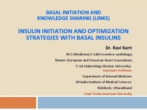 BASAL INITIATION AND KNOWLEDGE SHARING LINKS INSULIN INITIATION