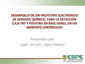 DESARROLLO DE UN PROTOTIPO ELECTRNICO DE SENSADO QUMICO