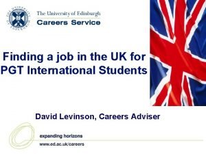 Finding a job in the UK for PGT