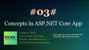 Concepts in ASP NET Core App Design by