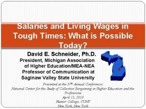 Salaries and Living Wages in Tough Times What