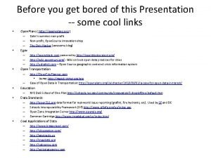 Before you get bored of this Presentation some