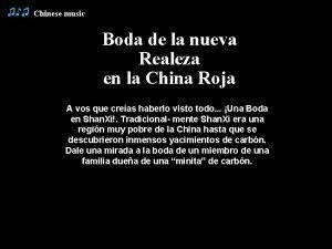Chinese music Boda de la nueva Realeza en