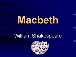 Macbeth William Shakespeare Act I Scene i Scene