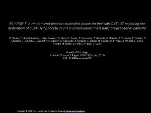 ELYPSE7 a randomized placebocontrolled phase IIa trial with