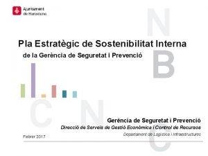 Pla Estratgic de Sostenibilitat Interna de la Gerncia