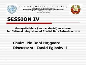 International Workshop of the United Nations Economic Commission