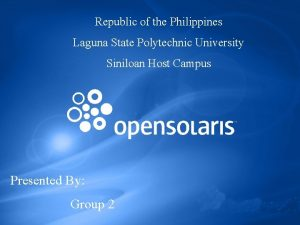 Republic of the Philippines Laguna State Polytechnic University